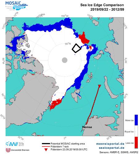 Definitionsgemäß werden Regionen mit einer Meereiskonzentration von über 15 Prozent als